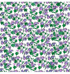 purple tulip tree seamless pattern vector image