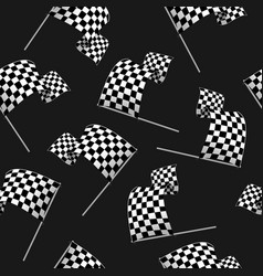 realistic detailed 3d racing wavy flag seamless vector image