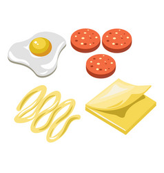sandwich fast food ingredients constructor vector image
