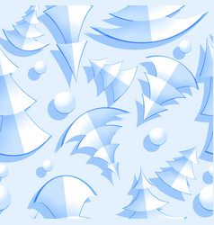 seamless pattern with fir trees vector image