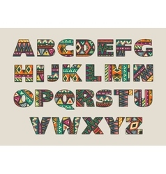 set ornate capital letters with abstract vector image