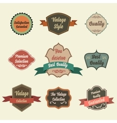 set retro vintage badges and labels pin badge vector image