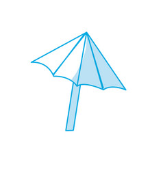 Silhouette nice umbrella open to protect of sun vector