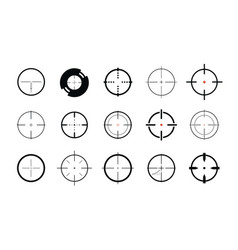 sniper sight symbol crosshair target set of vector image