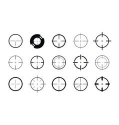 sniper sight symbol crosshair target set of vector image