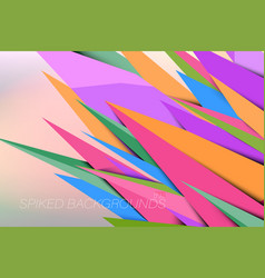 spikes colors vector image
