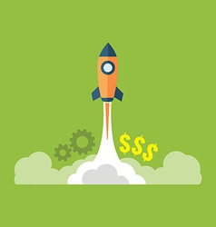 Startup launching new business concept Flat design vector image