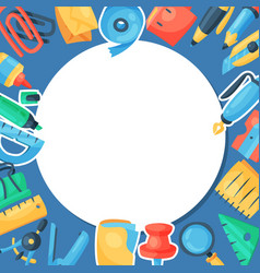 stationery round pattern vector image