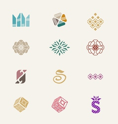 Stone icons set vector