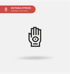 tattoo simple icon symbol vector image