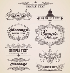 Thai vintage design elements and frames vector image