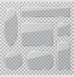 transparent glass buttons plastic glossy clear vector image