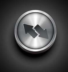 Two arrow icon vector