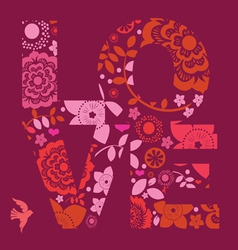 valentine day love message floral vector image