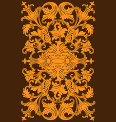 victorian royal style decor vector image
