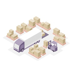 Warehouse distribution center vector image