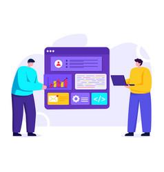 Web app development vector
