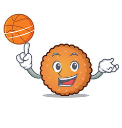 with basketball cookies character cartoon style vector image