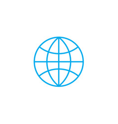 world market linear icon concept world market vector image