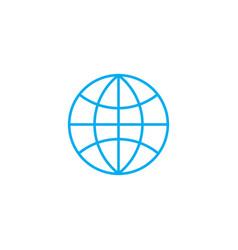 World market linear icon concept world market vector