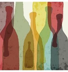 Colored glass bottles vector