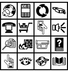 internet web icon vector image vector image