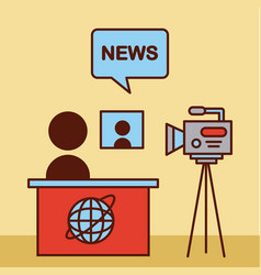 news world flat vector image vector image