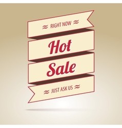 Ribbon with the inscription Hot sale vector image vector image