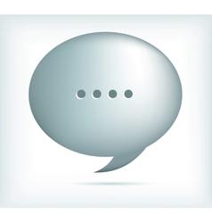 silver speech bubbles vector image