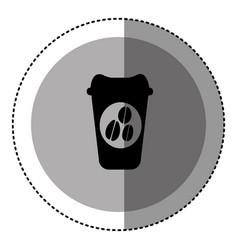 Sticker monochrome circular emblem with disposable vector