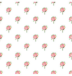 wedding bouquet of pink roses pattern vector image