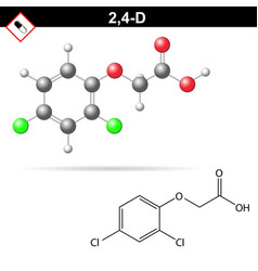 24-d chemical structure vector image
