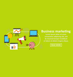 business marketing banner horizontal concept vector image vector image