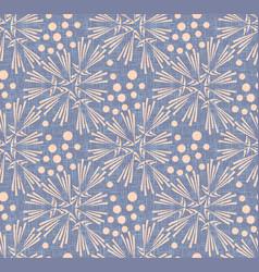 Dandelion polka dot seamless pattern vector