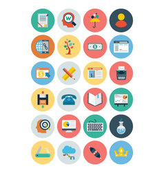 Flat SEO and Marketing Icons 5 vector image vector image