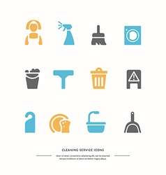 Icons set Cleaning service vector image vector image