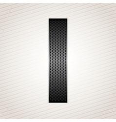 Letter metal ribbon - I vector image