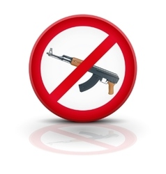 Sign with gun and symbol Stop terrorism vector image