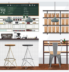 tea and coffee shop business vector image vector image