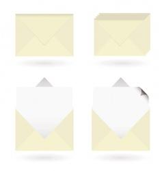 business envelopes open vector image