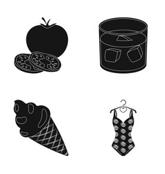 cooking dessert and other web icon in black style vector image