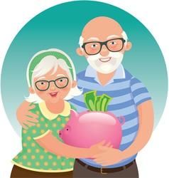 Elderly couple retired vector image vector image