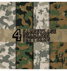 Set of camouflages vector image
