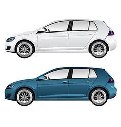 White and Blue Car vector image vector image