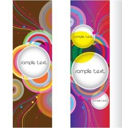 abstract modern banner set design vector image