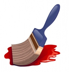 paintbrush icon and red color vector image vector image