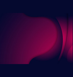abstract curved shape layered pink and blue vector image