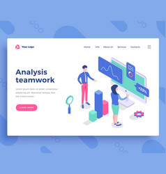 analysis teamwork concept office people vector image