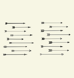 arrows set hipster tribal vector image