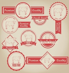 Beef Vintage Label vector image